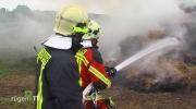 Brand einer Strohmiete in Binz