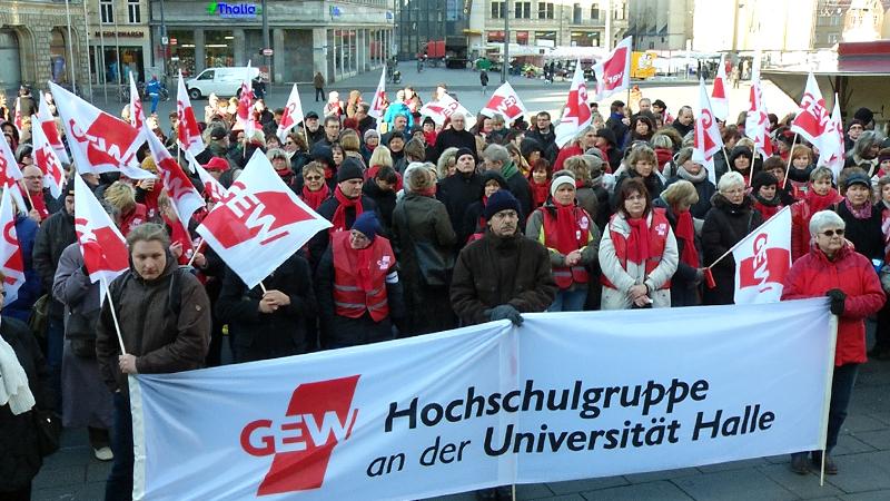 Lehrerstreiks an halleschen Schulen