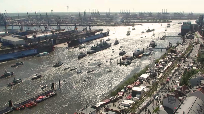 Hamburg Landungsbrücken Webcam