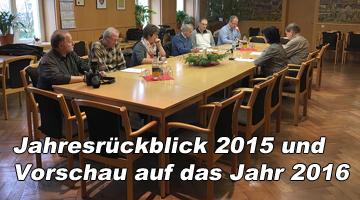 Jahresrückblick 2015 - Jahresausblick 2016