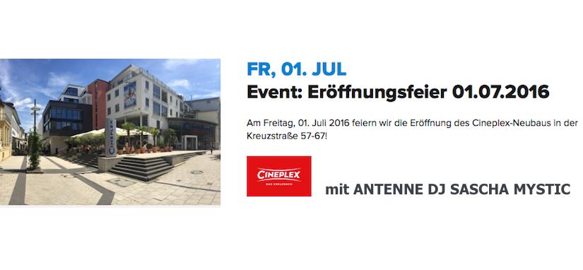 CINEPLEX - die offizielle Eröffnungsparty