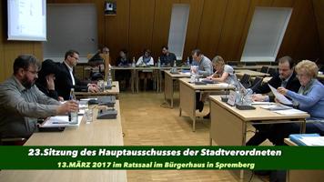 23. Sitzung des Hauptausschusses am 13. März 2017