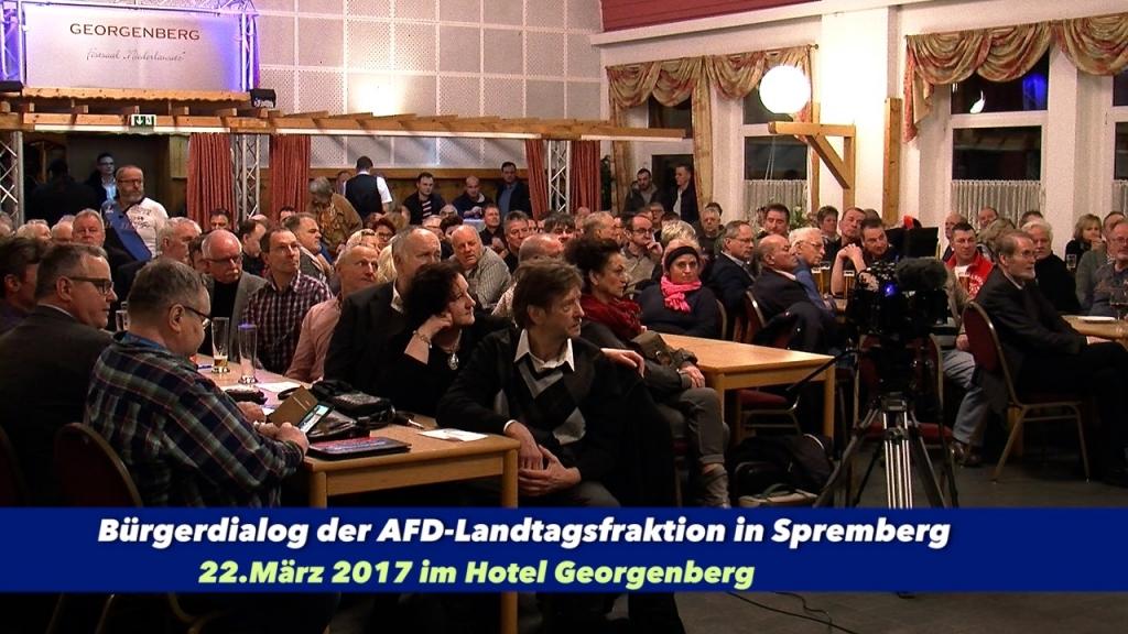 AFD Bürgerdialog in Spremberg