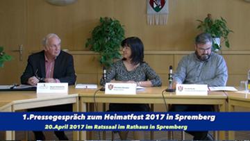Pressegespräch am 20. April 2017 zum Spremberger Heimatfest 2017