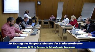 29.Hauptausschuss der SVV
