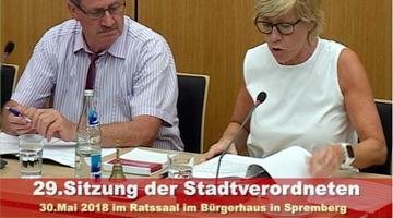 29.Stadtverordnetenversammlung Spremberg 1-2