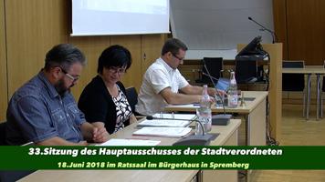 33. Sitzung des Hauptausschusses der Stadtverordnetenversammlung Spremberg