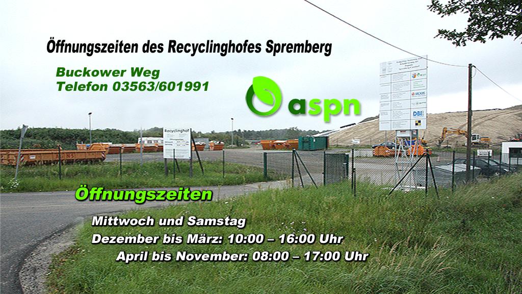 Recyclinghof neu