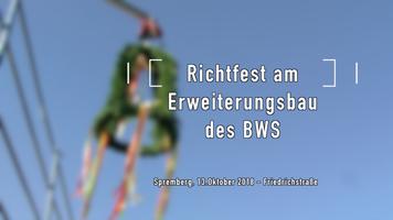 Richtfest am Erweiterungsbau des BWS in der Friedrichstraße in Spremberg
