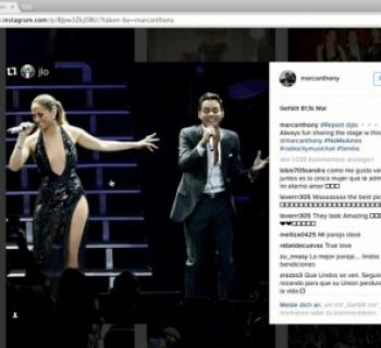 Jennifer Lopez und Ex-Mann Marc Anthony singen zusammen