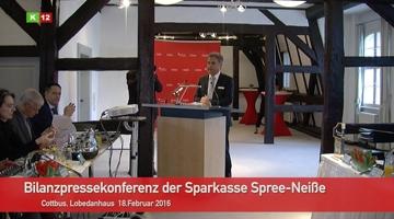 Bilanzpressekonferenz Sparkasse Spree-Neiße vom 18.02.2016