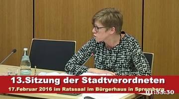 Stadtverordnetenversammlung 1.Teil 17.02.2016