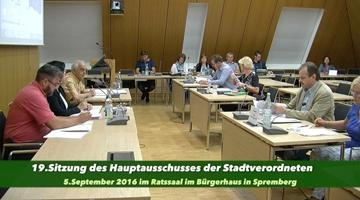 19.Hauptausschuss am 5.9.2016