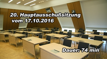 20. Sitzung des Hauptausschusses am 17. Oktober 2016