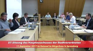 27. Sitzung des Hauptausschusses am 11. September 2017 in Spremberg