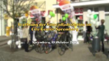 Eröffnung der Fahrradladestation am City-Center-Spremberg