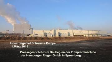 Pressegespräch zum Baubeginn der 2.Papiermaschine der Hamburger Rieger GmbH