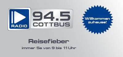 94.5 Radio Cottbus weckt Sie mit dem Reisefieber-Image
