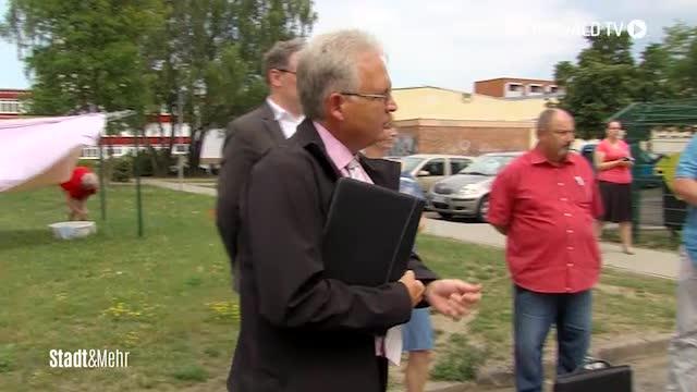 Pegel besucht soziale Bauvorhaben in Greifswald