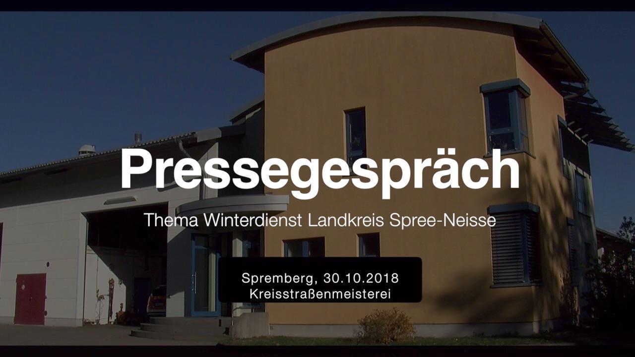 Pressegespräch Thema Winterdienst im Landkreis Spree-Neisse