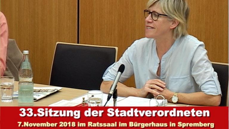 33. Sitzung der Stadtverordnetenversammlung Spremberg