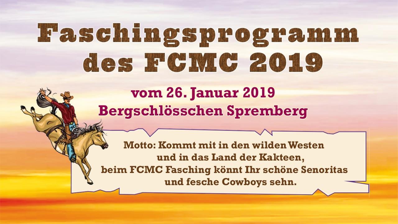 Faschingsprogramm des FCMC Spremberg vom 26.01.2019