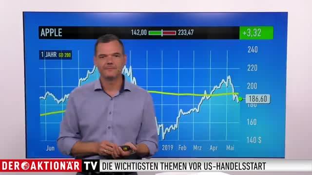 US-Markt: Dow Jones, Apple, Tesla, Alibaba, Qualcomm, Baidu, Boeing